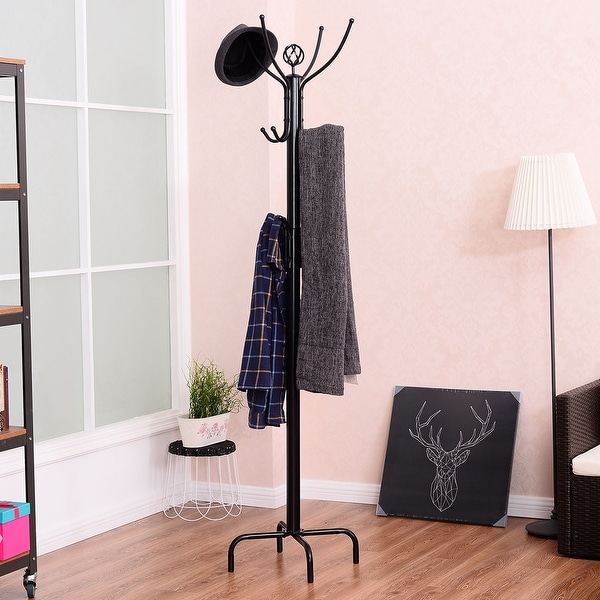 Grid Coat Rack In Office Accessories: Shop Costway 78'' Metal Coat Rack Free Standing Tree Hat