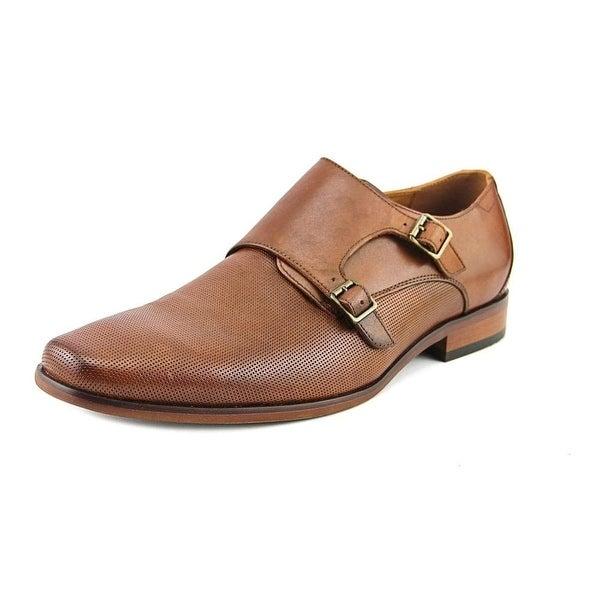 Aldo Mens Peterkin Leather Slip On Dress Oxfords, Cognac/Bronze, Size 10.0