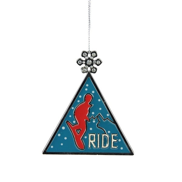 "3.75"" Ride Ski Christmas Charm Ornament - BLue"