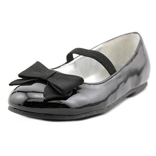 Nina Pointed Bow Round Toe Patent Leather Ballet Flats