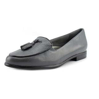 Trotters Leana Women N/S Round Toe Leather Gray Loafer