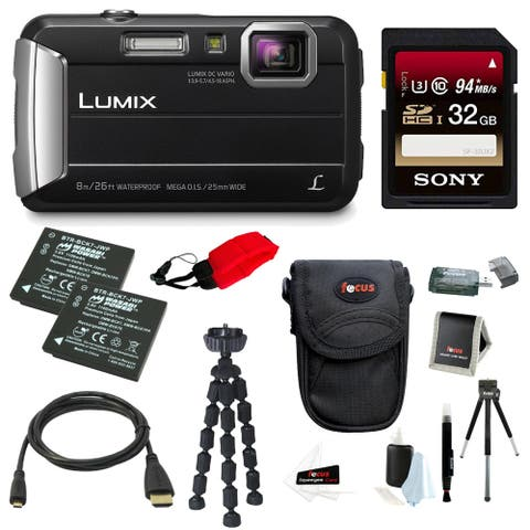 Panasonic DMC-TS30K LUMIX Tough Camera (Black) with 32GB Card Bundle