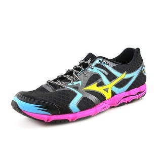 Mizuno Wave Hitogami Men Round Toe Synthetic Black Running Shoe