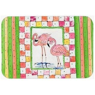 Carolines Treasures 8077-CMT Flamingo Kitchen Or Bath Mat - 20 x 30 in.