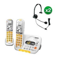 Uniden D3097-2 with Headset DECT 6.0 Amplified Cordless Phone w/ 1 Extra Handset