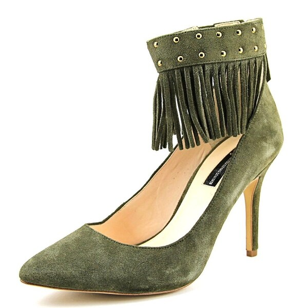 INC International Concepts Britanii Women Pointed Toe Suede Green Heels