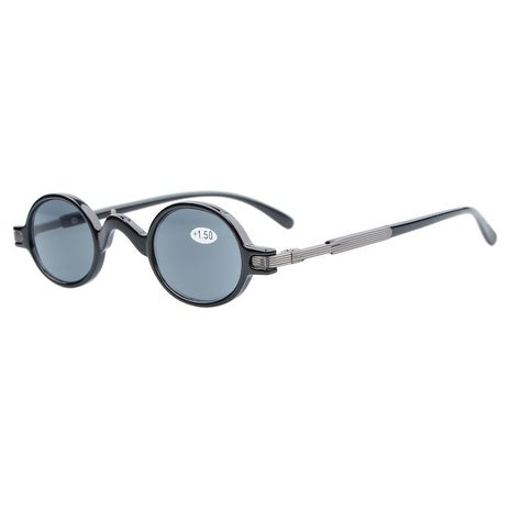188acb75042 Shop Eyekepper Sun Readers Spring Temple Vintage Mini Small Oval Round  Reading Sunglasses Grey Lens +1.0 - Free Shipping On Orders Over  45 -  Overstock.com ...