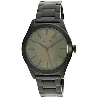 Armani Exchange Men's A|https://ak1.ostkcdn.com/images/products/is/images/direct/1c43f8b7395807cc7a7555ddadbc11c4e442a69e/Armani-Exchange-Men%27s-A%7CX-AX2333-Black-Stainless-Steel-Fashion-Watch.jpg?impolicy=medium