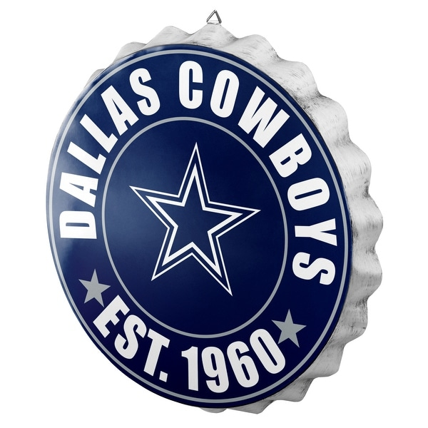 6760911f84a Shop NFL Licensed Metal Bottle Cap Wall Sign Team- Dallas Cowboys - Free  Shipping On Orders Over $45 - Overstock - 23033206