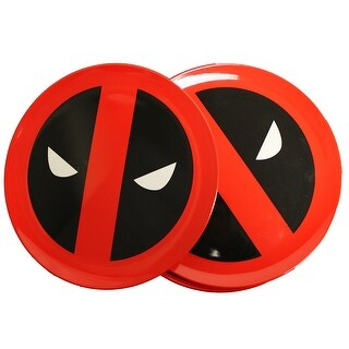 Marvel Dead Pool Round Plate 4-Piece Set - Multi