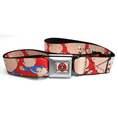 Looney Tunes Cartoon TV Series Porky the Pig Seatbelt Belt