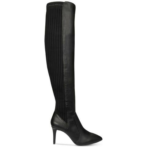 INC International Concepts Womens Izetta Fabric Pointed Toe Over Knee Fashion Boots