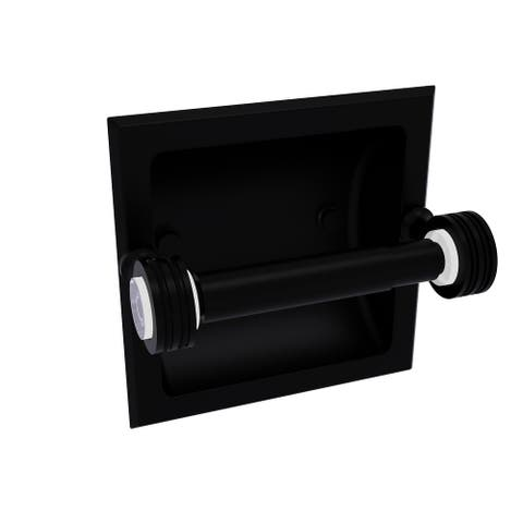 Allied Brass Pacific Grove Collection Recessed Toilet Paper Holder with Dotted Accents