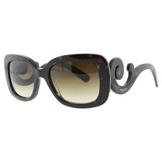 PRADA Square SPR 27O Women's 2AU6S1 Havana Brown Brown Gradient Sunglasses - 54mm-19mm-135mm