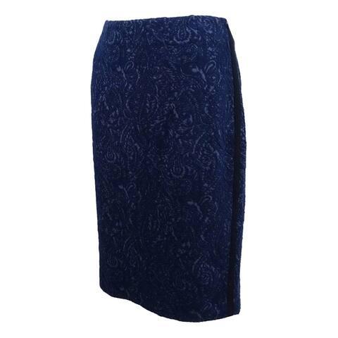 Kasper Women's Jacquard Paisley-Print Pencil Skirt