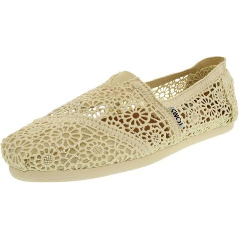 Toms Women's Alpargata Moroccan Crochet Ankle-High Cotton Slip-On Shoes