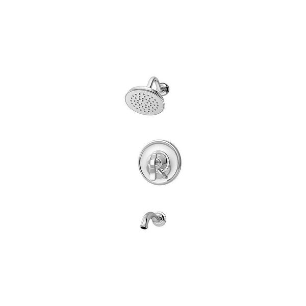 Symmons S-5102 Winslet Tub Filler and Single Function Shower Head with Pressure Balanced Valve Trim, Diverter, and Rough In