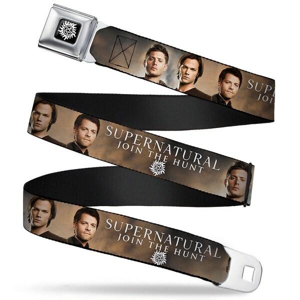 Winchester Logo Full Color Black White Dean, Sam & Castiel Supernatural Seatbelt Belt