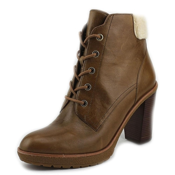 Michael Michael Kors Kim Lace Up Bootie   Round Toe Leather  Ankle Boot
