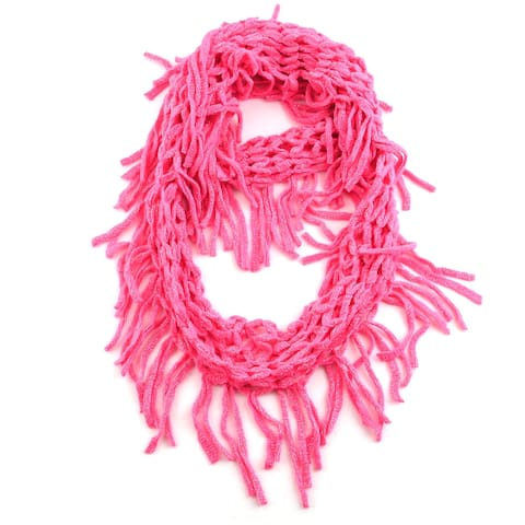 Shop LC Polyester Pink Openweave Knit Scarf with Header Card Hanger - 12x20 Inches