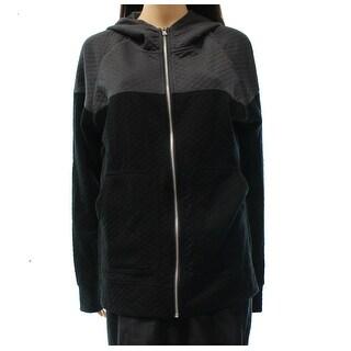 Howe NEW Black Women's Size Large L Zip Up Colorblock Hooded Jacket
