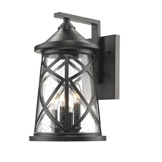 "Millennium Lighting 2503 4 Light 16-1/4"" High Outdoor Wall Sconce with Glass Shade"