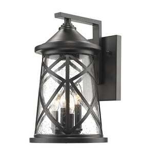 """Millennium Lighting 2503 4 Light 16-1/4"""" High Outdoor Wall Sconce with Glass Shade"""