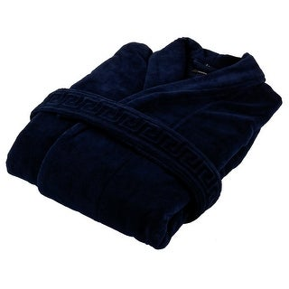 Versace VHB0546 002 Navy Blue Versace Signature Bathrobe