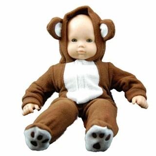 "15"" Doll Clothes for American Girl Bitty Baby & Bitty Twins Soft Teddy Bear Cub Sleeper Pajamas"