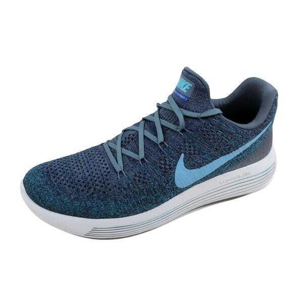 Nike Men's Lunarepic Low Flyknit 2 Blue Fox/Cerulean-College Navy 863779-404