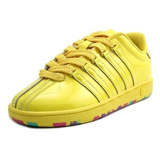 K-Swiss Classic VN Youth Round Toe Patent Leather Yellow Sneakers
