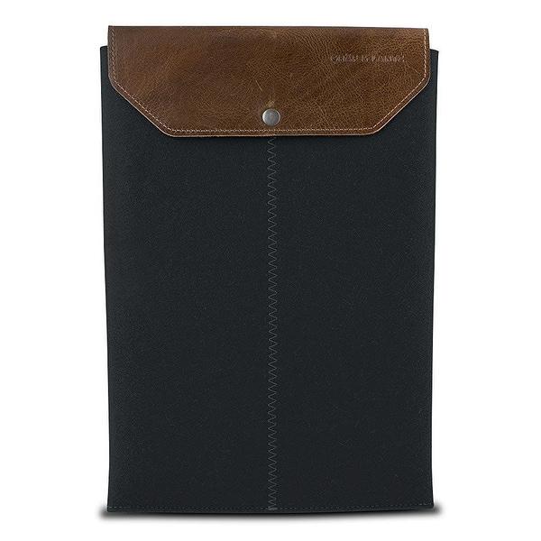 "Graf & Lantz Emmet Sleeve with Leather Flap for 15"" MacBook Pro -  Steel"