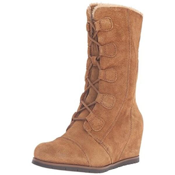 Baretraps Womens Brinda Snow Boots Suede Wedges