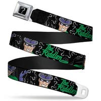 "Riddler ""?"" Black Silver The Riddler W Batman Silhouette Webbing Seatbelt Seatbelt Belt"