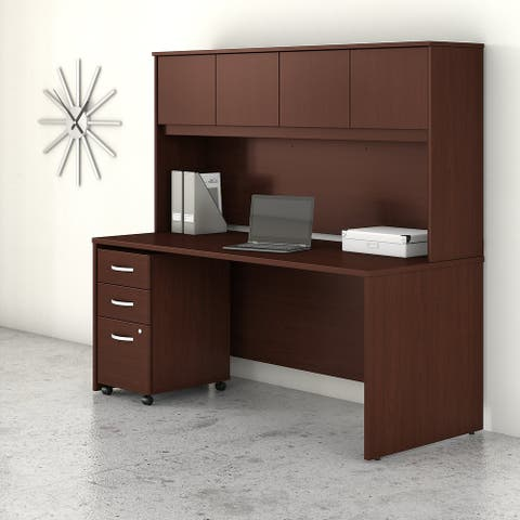Studio C 72W Desk with Hutch and Drawers by Bush Business Furniture