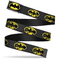 Batman Fcg Black Yellow Black Frame Weathered Batman Shield Gray Web Belt