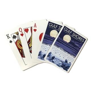 Gulf Shores, Alabama - Sea Turtles - Lantern Press Artwork (Playing Card Deck - 52 Card Poker Size with Jokers)