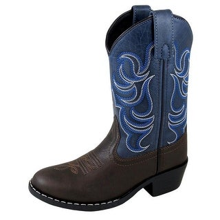 Smoky Mountain Western Boots Boys Pull On Monterey Brown Navy