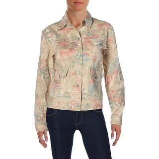Lauren Ralph Lauren Womens Jacket Cotton Floral Print