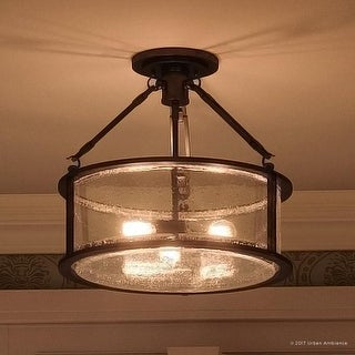Luxury Industrial Semi-Flush Ceiling Light 14.25 H x 16 W & Buy Urban Ambiance Flush Mount Lighting Online at Overstock.com ...
