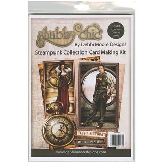 Debbi Moore A4 Cardmaking Kit W/24 Sheets-Shabby Chic Steam Punk