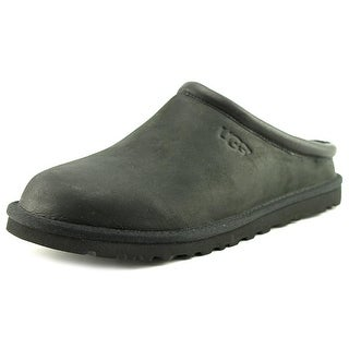 UGG Classic Clog Men Round Toe Leather Slipper|https://ak1.ostkcdn.com/images/products/is/images/direct/1c4e9b002c69d7cc08057a8c49a5548b9755b499/UGG-Classic-Clog-Men-Round-Toe-Leather-Black-Slipper.jpg?_ostk_perf_=percv&impolicy=medium