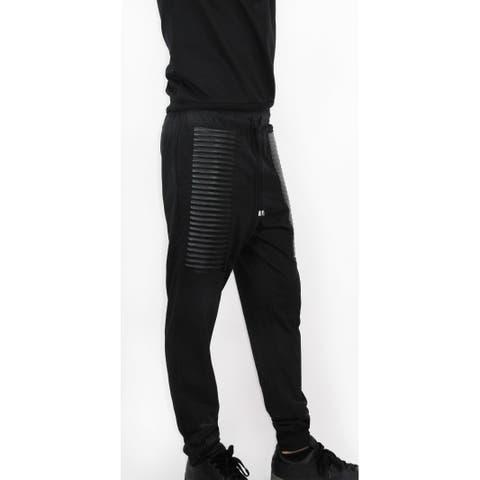 Stylish French Terry Moto Sweatpants (BP-46)