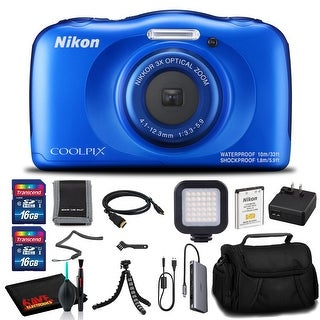 Link to Nikon COOLPIX W100 Digital Camera(Blue) - Case, 16GB SD, Tripod, Case, and More Similar Items in Digital Cameras
