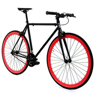 Fixed Gear - GOLDEN CYCLES Fixed Gear Bike Steel Frame Fixie with Deep V Rims - VIPER