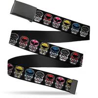 Blank Black  Buckle Power Rangers Chibi Webbing Web Belt