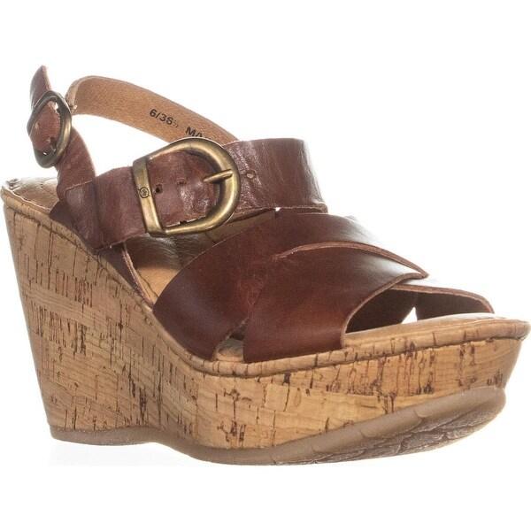b8e69bc95c7 Shop Born Emmy Quarter Wedge Sandals, Rust - 6 us / 36.5 eu - Free ...
