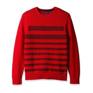 Nautica Mens Pullover Sweater Striped Long Sleeves