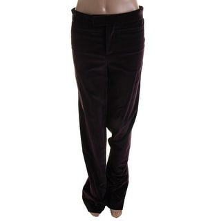 Catherine Malandrino Womens Velveteen Flare Leg Casual Pants - 4