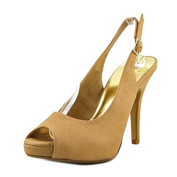 Thalia Sodi Camiila Women Open-Toe Leather Tan Mary Janes